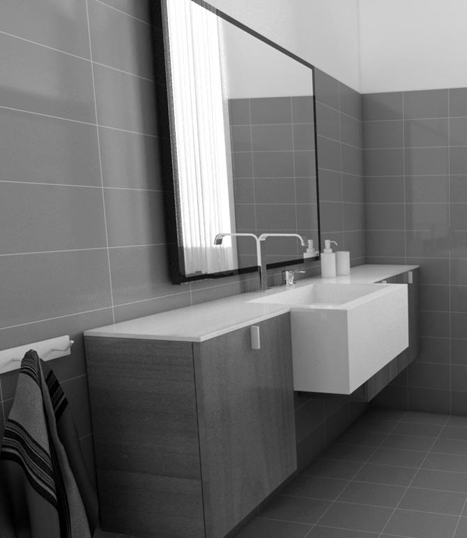 Am4 gallery dei lavori degli allievi - Rendering bagno ...