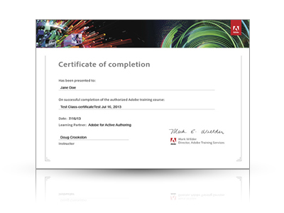 Certificato AM4 corso Adobe Photoshop CS5