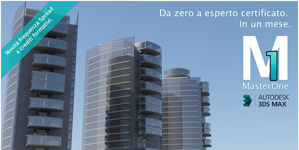 Master one - 3ds max. da zero a esperto certificato in un solo mese