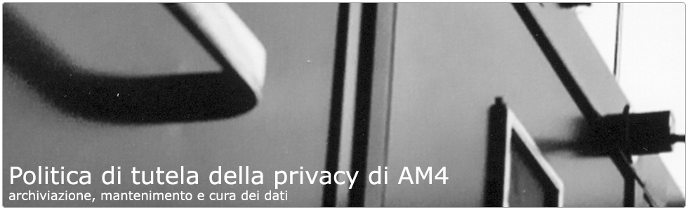 AM4 tutela la tua privacy